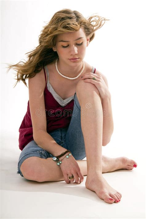 girl preteen models attractive preteen female kid model sitting stock photo
