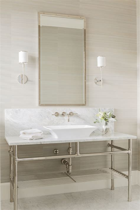 bathroom washstand washstand with vessel sink transitional bathroom