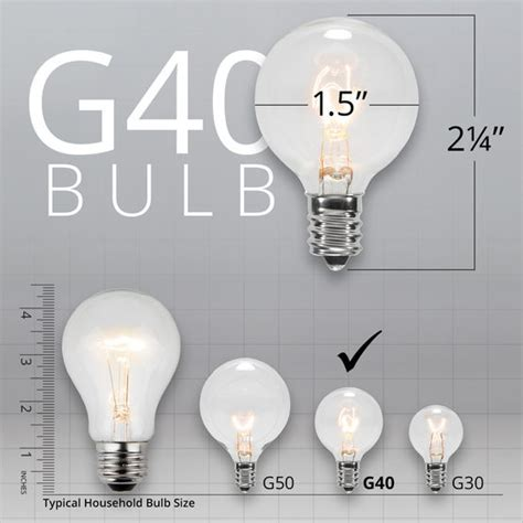 light g40 size comparrison globe string lights opaque multicolor g40 bulbs green wire yard envy