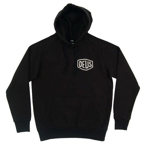 Hoodie Deus Ex Machina Lp deus ex machina tokyo address hoodie black mens clothing from attic clothing uk