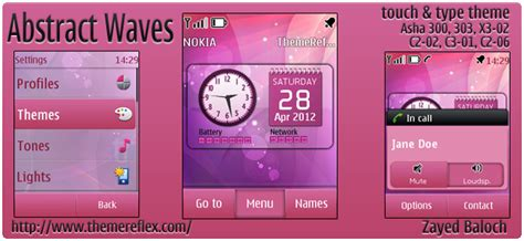 free themes for nokia c2 02 touch and type abstract waves theme for nokia asha 303 x3 02 c2 06