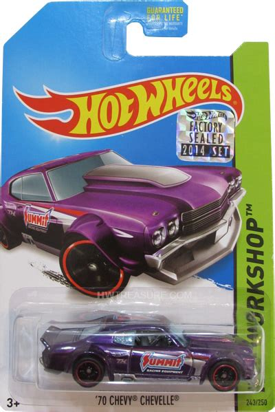 Hotwheels Hw Modified Black 70 chevy chevelle ss wheels 2014 treasure hunt
