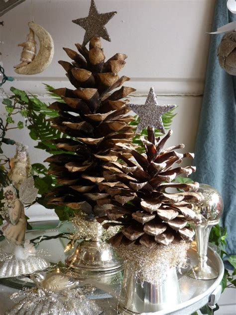 pinecone christmas trees diy christmas 3 pinterest