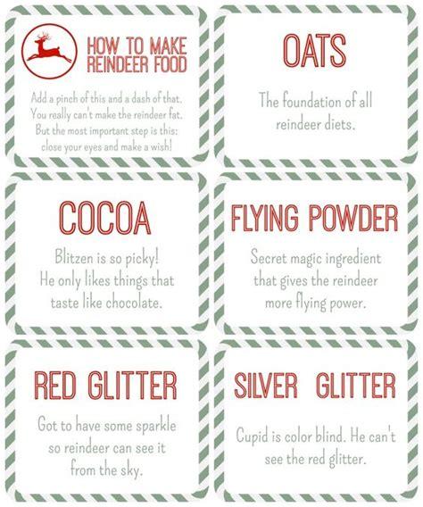 printable magic reindeer food poem reindeer food free printables and reindeer on pinterest