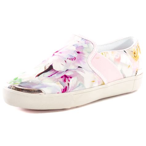 ted baker laulei womens textile pink floral trainers