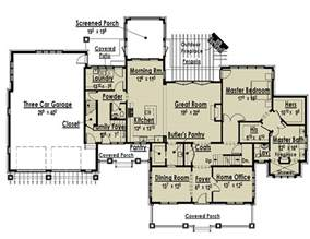 ranch style house with two master suites floor plan best house plans large master suites images