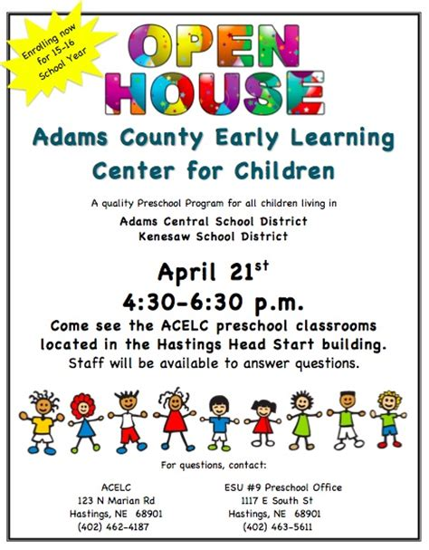 school open house template kenesaw schools county early learning