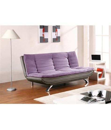 buy sofa cum bed online india edo 3 seater sofa cum bed purple black buy online at