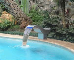 pool fountains and waterfalls unusual swimming pool design ideas outdoortheme com