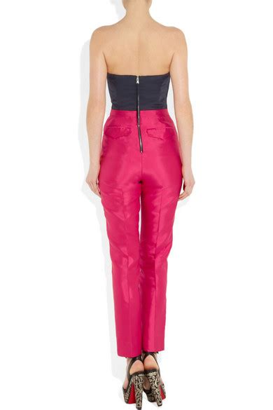Jumpsuit Bangkok Bk Mr marc by marc eames two tone silk and twill jumpsuit net a porter