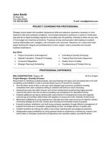 Project Manager Resume Template by Construction Project Management Resume Images