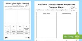 northern ireland themed proper and common nouns sorting