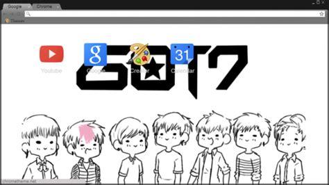 theme google chrome got7 got7 logo cartoon chrome theme themebeta