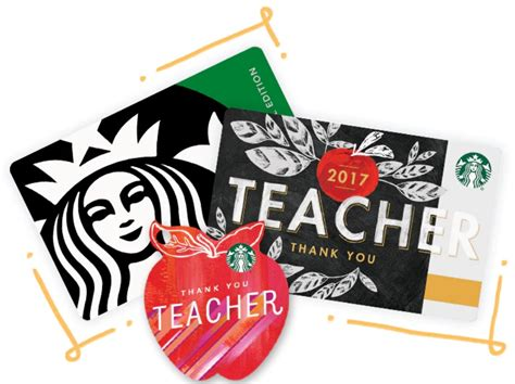 Starbucks Gift Card For Teachers - clever gift ideas for teacher appreciation day