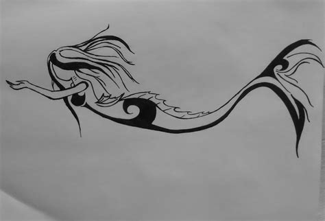 mermaid tribal tattoo tribal mermaid related keywords tribal mermaid