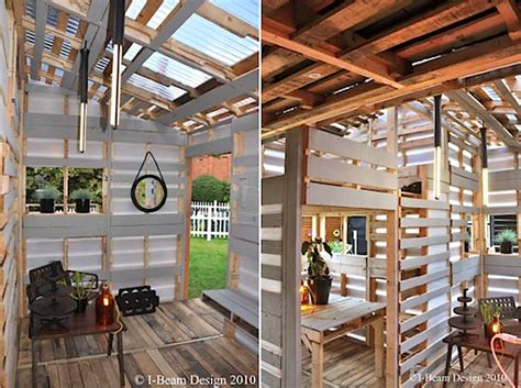 pallet house by i beam design pallet house prototype by i beam design
