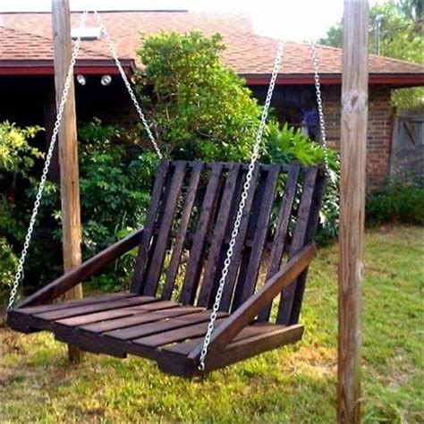 diy swing chair diy frugal pallet swings pallet furniture diy