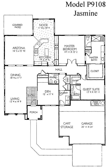 del webb house plans sun city grand jasmine floor plan del webb sun city grand floor plan model home house