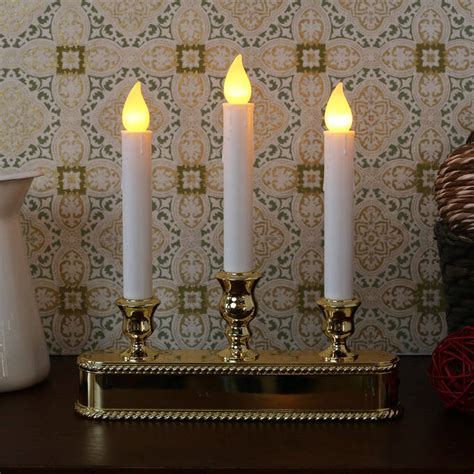 electric window candles lights lights com flameless candles taper candles gold