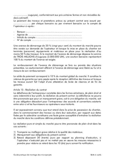 Exemple Lettre De Garantie Des Travaux exemple de contrat travaux