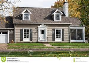 cape cod house with screened in porch stock photo image