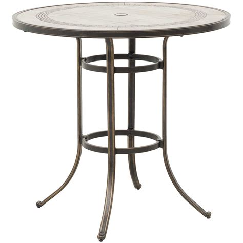 Patio Pub Tables Barnwood 42 Quot Tile Top Patio Bar Table T R42b T6 Barnwd World Source International Afw