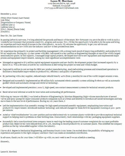 cover letter for fair general cover letter sles for fair professional