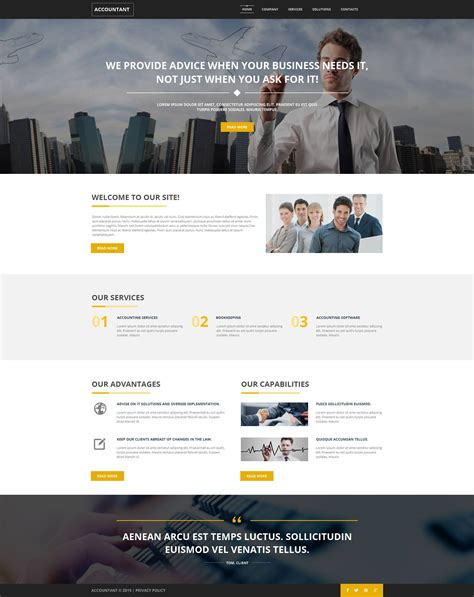 html template accounting website moto cms html template 52790