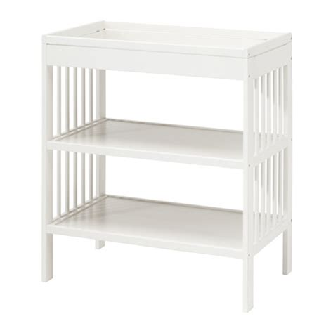 white change table gulliver changing table ikea