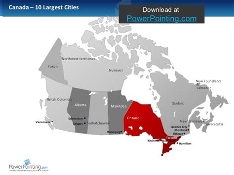 us and canada map for powerpoint powerpoint canada map