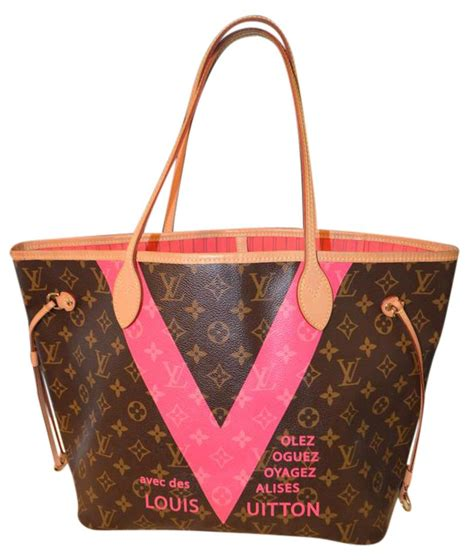 Lv Pink louis vuitton neverfull limited edition mm grenade