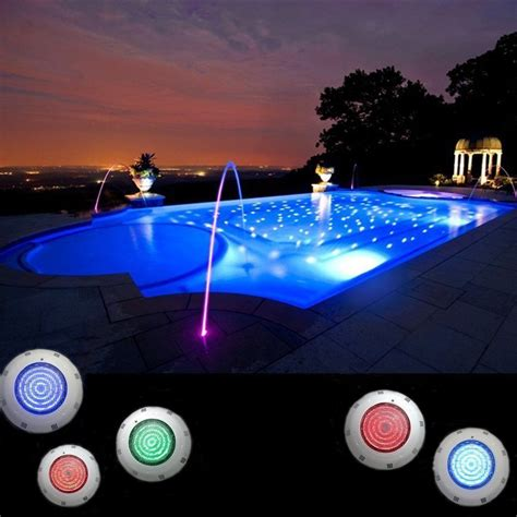 led inground pool light rgb 7 color led swimming pool light