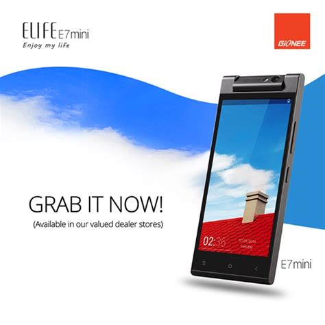 gionee elife e7 gionee elife e7 mini now available in the philippines