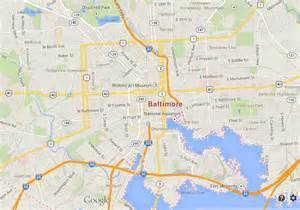 map of baltimore world easy guides