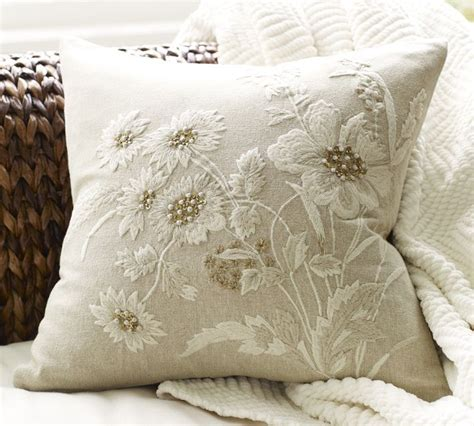Pillow With Embroider S best design embroidered flower pillow cover my style pillows flower and embroidery