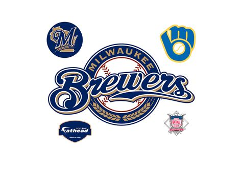milwaukee brewers logo wall decal shop fathead 174 for