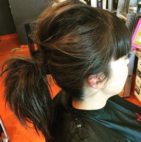 ponytail hairstyles no bangs 35 super simple messy ponytail hairstyles