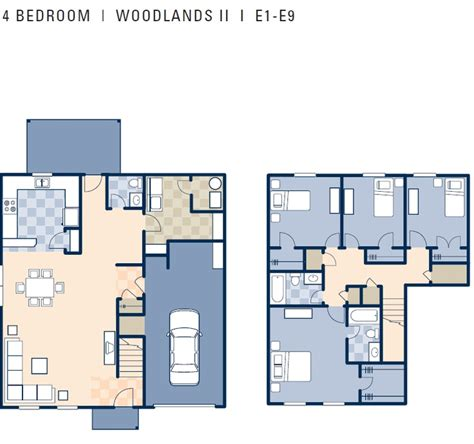 4 bedroom townhouse floor plans ncbc gulfport woodlands ii neighborhood 4 bedroom