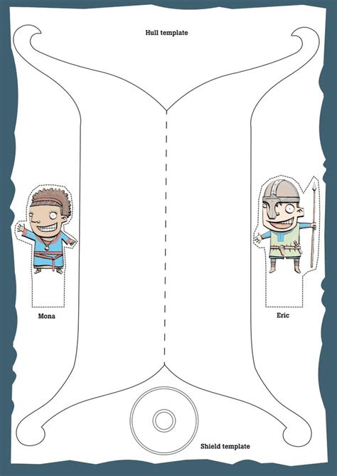 template for a viking ship free create your own figure