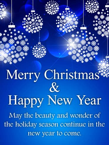 shining blue merry christmas card birthday greeting cards  davia