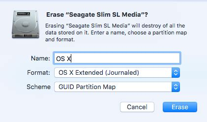 mac os x format external hard drive time machine install boot and run mac os x from an external hard drive