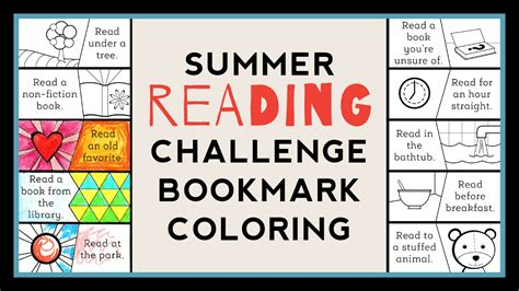 the summer reading challenge color as you go summer reading challenge bookmark