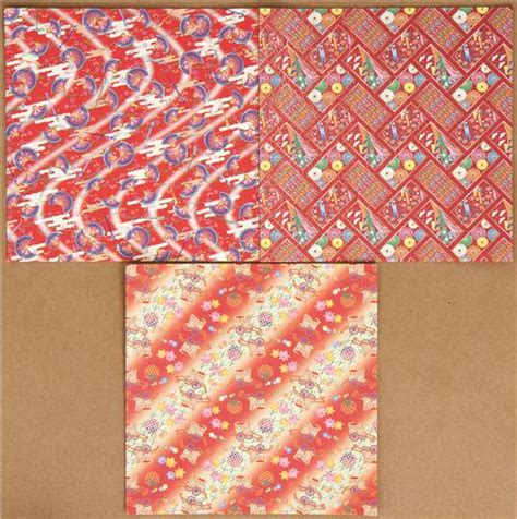 Origami Paper Set - origami paper set with japanese designs fan lotus other