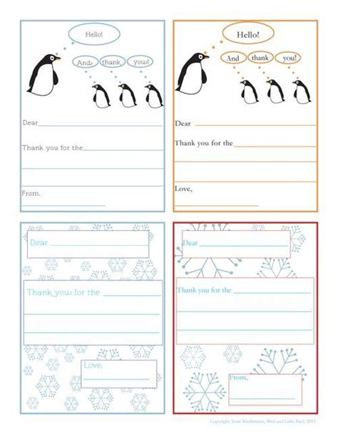 card writing template 36 best printable thank you notes images on