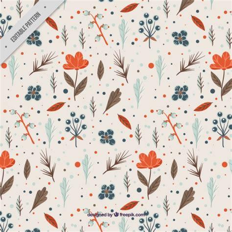 flower pattern freepik floral pattern with orange flowers vector free download
