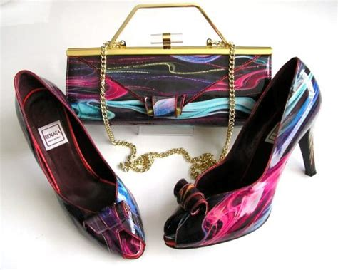Posh To Design Shoes And Bags by Designer Shoes Matching 3 Way Bag Purple Multi Size 6