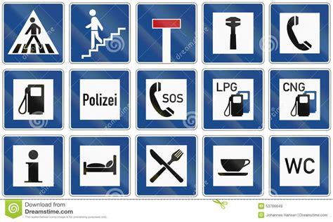imagenes de señales informativas en ingles se 241 ales de tr 225 fico informativas en alemania stock de