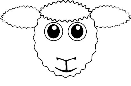 new year sheep mask template sheep templates printable clipart best