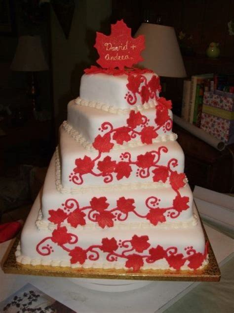 Cake For Wedding Day by Maple Leaf Cake For Canada Day Wedding Cakecentral