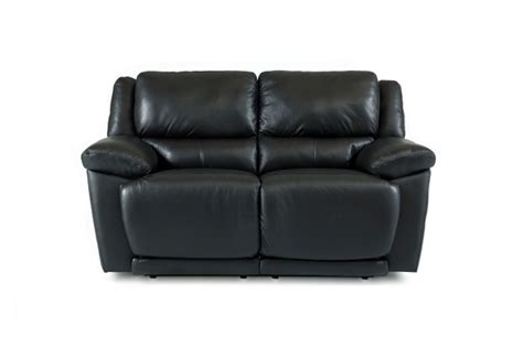 Black Reclining Loveseat by Delray Black Leather Reclining Loveseat